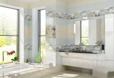 Плитка для стен ванной Уралкерамика Релакс ПО9РЛ606 (249x500, голубой/голубой)