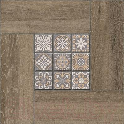 Плитка Уралкерамика Ранчо ПГ3РЧ444 (418x418, коричневый/коричневый)