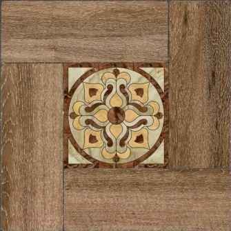 Плитка Уралкерамика Ранчо ПГ3РЧ424 (418x418, коричневый/коричневый)