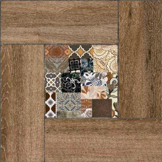 Плитка Уралкерамика Ранчо ПГ3РЧ404 (418x418, коричневый/коричневый)
