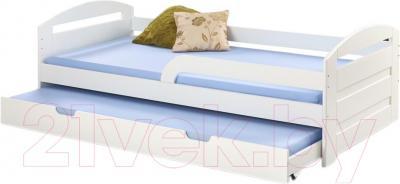 Двухъярусная кровать Halmar Natalie 90x200 (белый)