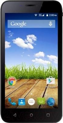 Мобильный телефон Micromax Bolt Q379 (черный, + чехол-книжка)