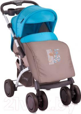 Детская прогулочная коляска Lorelli Apollo (Beige Blue Giraffe)