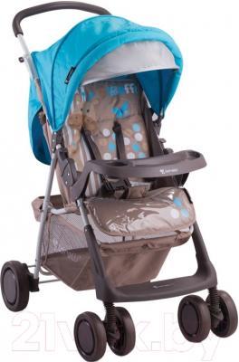 Детская прогулочная коляска Lorelli Star Beige Blue Giraffe (10020051643A)