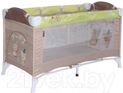 Кровать-манеж Lorelli Arena 2 Beige Green Bears (10080121629)