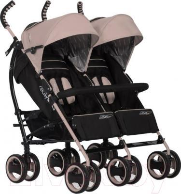 Детская прогулочная коляска EasyGo Duo Comfort (Latte)