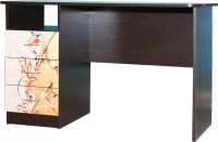 Компьютерный стол Мебель-Класс Альянс левый (венге-дуб молочный, с рисунком) -