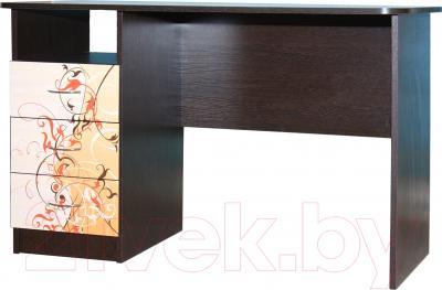 Компьютерный стол Мебель-Класс Альянс левый (венге-дуб молочный, с рисунком)