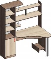 Компьютерный стол Мебель-Класс Соната левый (ясень шимо св./ясень шимо темный) -