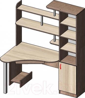 Компьютерный стол Мебель-Класс Соната правый (ясень шимо св./ясень шимо темный)