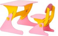 Стол+стул Столики Детям Буслик Б-ЖР (розовый/желтый) -
