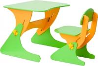 Стол+стул Столики Детям Буслик Б-СО (салатовый/оранжевый) -