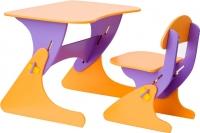Стол+стул Столики Детям Буслик Б-ФО (фиолетовый/оранжевый) -