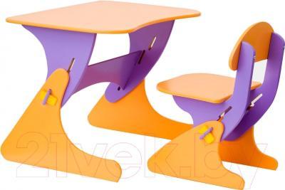 Стол+стул Столики Детям Буслик Б-ФО (фиолетовый/оранжевый)