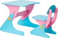 Стол+стул Столики Детям Буслик Б-РГ (розовый/голубой) -