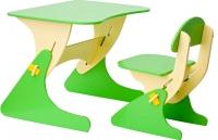 Стол+стул Столики Детям Буслик Б-БС (бежевый/салатовый) -