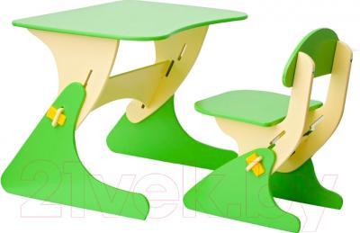 Стол+стул Столики Детям Буслик Б-БС (бежевый/салатовый)