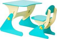 Стол+стул Столики Детям Буслик Б-ББ (бежевый/бирюзовый) -