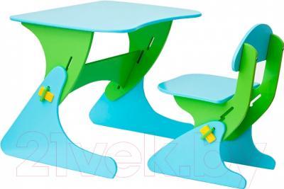 Стол+стул Столики Детям Буслик Б-СГ (салатовый/голубой)