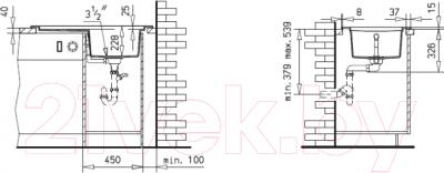 Мойка кухонная Teka Aura 45 B-TG / 88568 (алюминий)