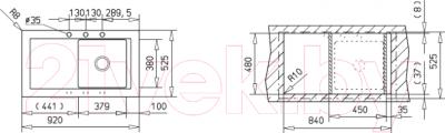 Мойка кухонная Teka Aura 45 B-TG (алюминий)