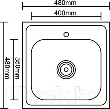 Мойка кухонная Thor D4848P (80190020)
