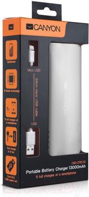Портативное зарядное устройство Canyon CNE-CPB130W