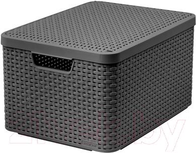 Ящик для хранения Curver Style L 03619-308-00 / 205863 (темно-серый)