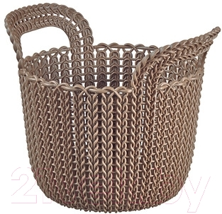 Корзина Curver Knit XS 03671-X59-00 / 226398 (темно-коричневый)