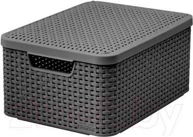 Ящик для хранения Curver Style M 03618-308-00 / 205849 (темно-серый)