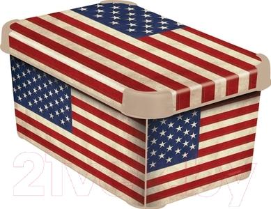 Ящик для хранения Curver Deco's Stockholm S 04710-A33-00 / 205489 (USA Flag)