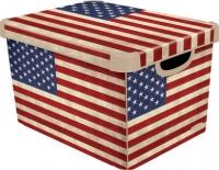 Ящик для хранения Curver Deco's Stoockholm L 04711-A33-05 / 213240 (USA Flag) -
