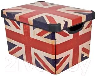 Ящик для хранения Curver Deco's Stoockholm L 04711-D99-05 / 213239 (British Flag)