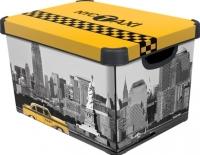 Ящик для хранения Curver Deco's Stoockholm L 04711-D16-05 / 213238 (Taxi NY) -