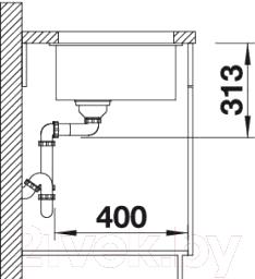 Мойка кухонная Blanco Subline 400-U (515759)