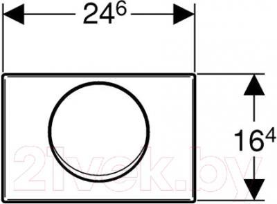 Кнопка для инсталляции Geberit Delta 15 (115.101.00.1) - схема