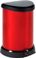 Мусорное ведро Curver 02120-931-05 / 176458 (20л, черный/красный металик) -