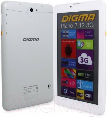 Планшет Digma Plane 7.12 8GB 3G (белый)