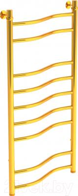 Полотенцесушитель водяной Gloss & Reiter Wave Л. 50х100.В9.G1 (Gold)