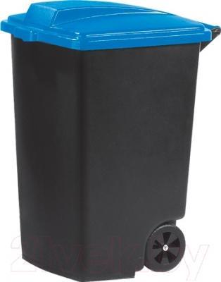 Контейнер для мусора Curver Refuse Bin 05183-280-65 / 215532 (100 л, черный/голубой)