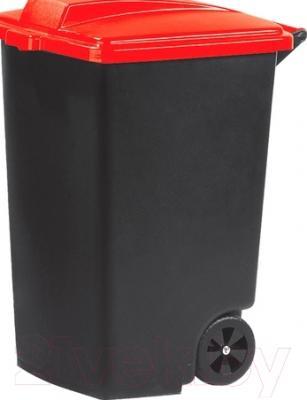 Контейнер для мусора Curver Refuse Bin 05183-879-65 / 215531 (100 л, черный/красный)
