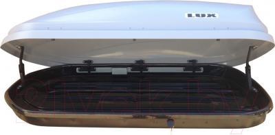 Автобокс Lux 600 440L 841665 (серый матовый) - в открытом состоянии