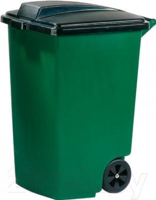 Контейнер для мусора Curver 175846 (100 л, зеленый/черный)