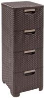 Комод пластиковый Curver Style 06605-210-00 / 209906 (темно-коричневый) -