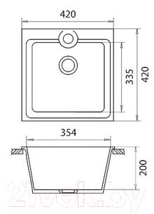 Мойка кухонная Эко-М M-42 (песок)