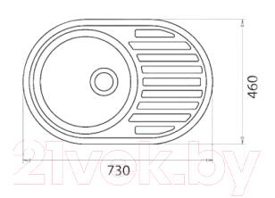 Мойка кухонная Эко-М M-18 (черный)