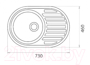 Мойка кухонная Эко-М M-18 (серый)
