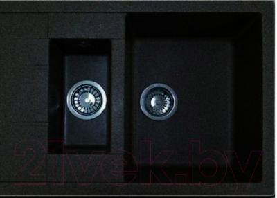 Мойка кухонная Эко-М M-21K (черный)