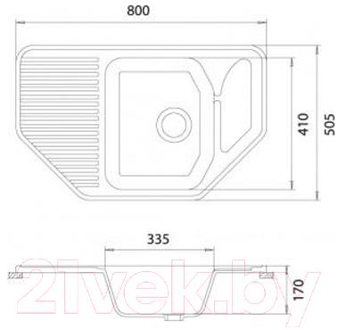 Мойка кухонная Эко-М M-10 (белый)