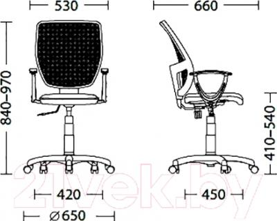 Кресло офисное Новый Стиль Betta GTP (OH/5, C-14) - размеры